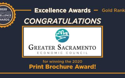 Greater Sacramento Economic Council Receives Excellence in Economic Development Award