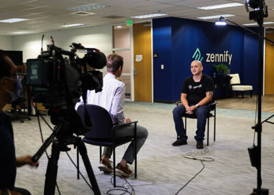 Filming the Digital Upskill Sacramento feature for Fox Business